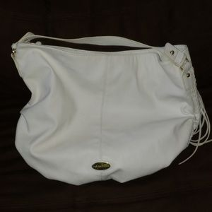 Large white Big Buddha shoulder bag